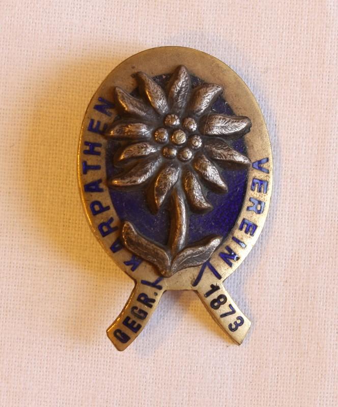 Odznak Karpatského spolku (foto: Múzeum vKežmarku)